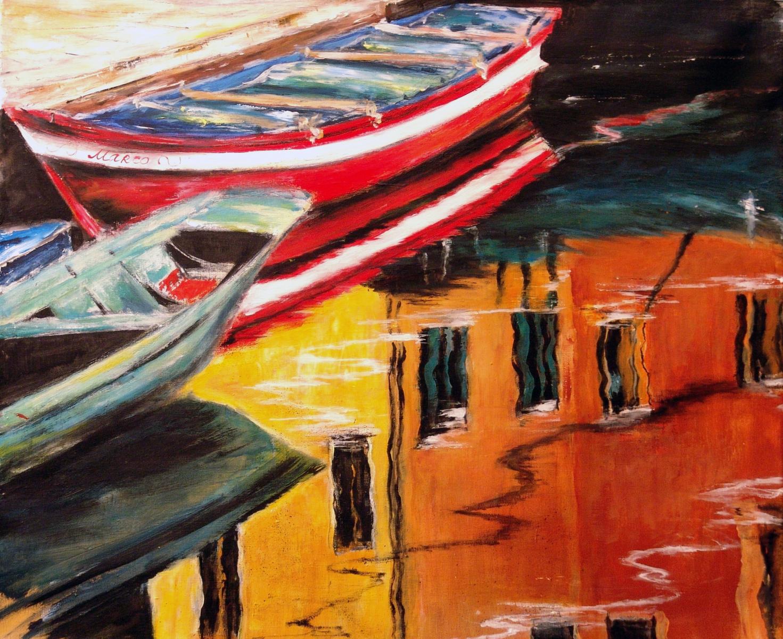 Boote-in-Venedig