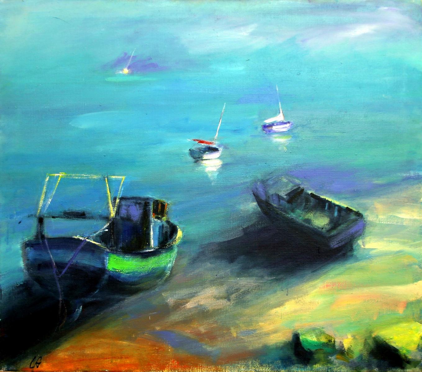 Boote-im-Morgengrauen